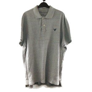 AEO Mens Polo Shirt Athletic Fit XXL Grey Gray